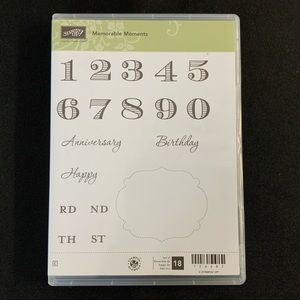 STAMPIN' UP! Memorable Moments Cling Rubber Stamps